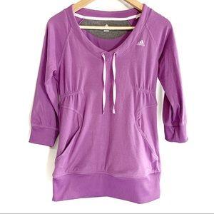 Adidas climalite purple light hooded sweater top